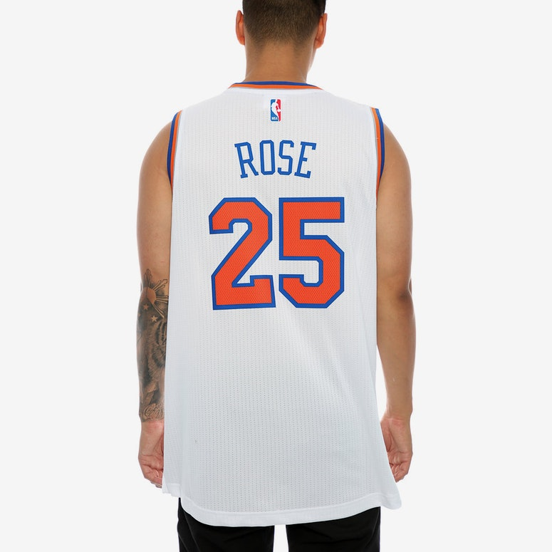43fb6f16a ... official photos f83f1 55264 Adidas Performance New York Knicks Derrick  Rose Swingman Jersey White ...
