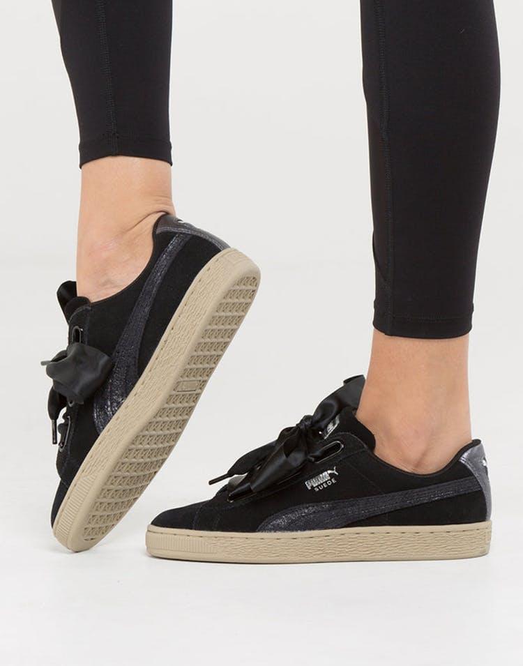 online store dd173 25c20 Puma Women's Basket Heart Metallic Safari Black/Beige