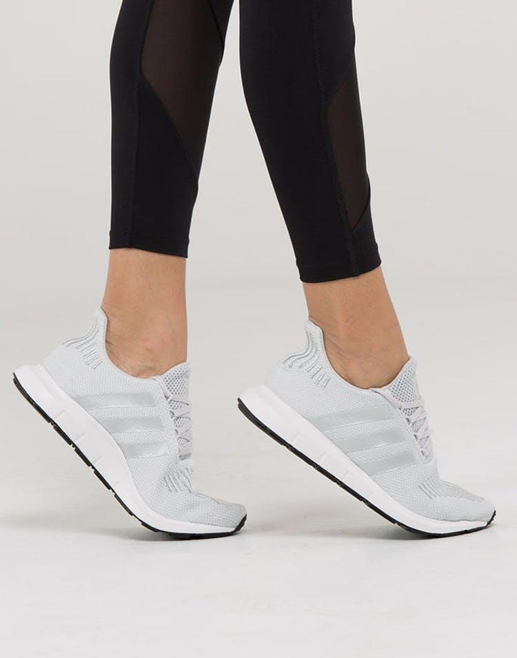 4709e2f81b0de Adidas Originals Women s Swift Run Grey Silver White
