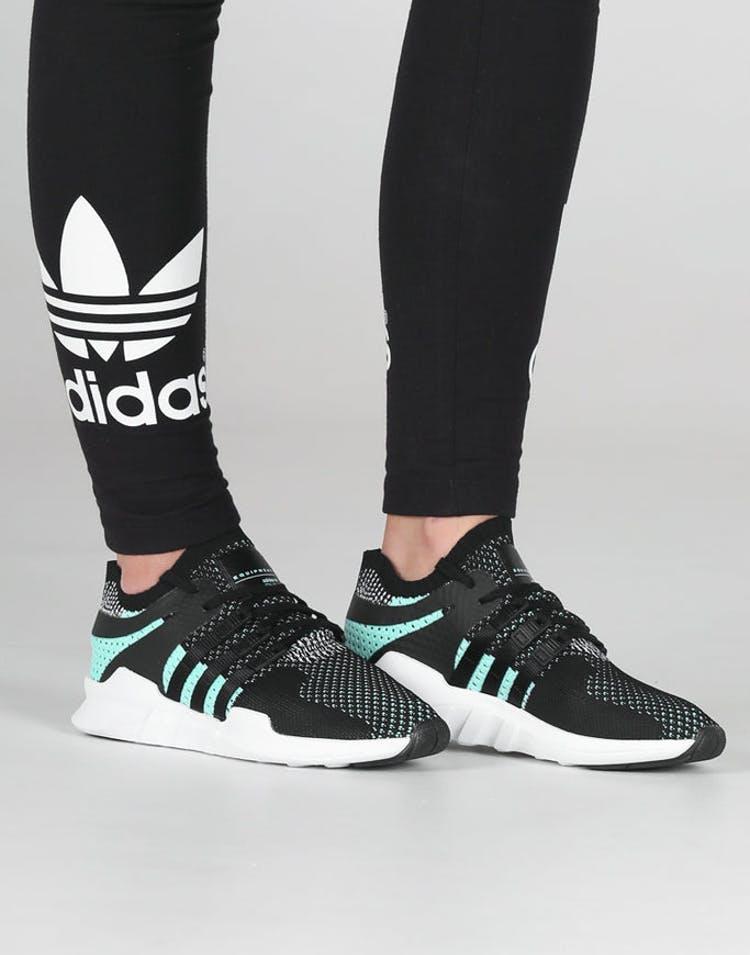 new styles 1778a 7329a Adidas Originals Women s EQT Support ADV Primeknit Black White