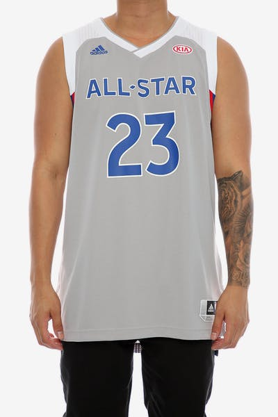 27c59ff8b Adidas Performance NBA All-Star Eastern Conference LeBron James  23  Swingman  Jersey Grey
