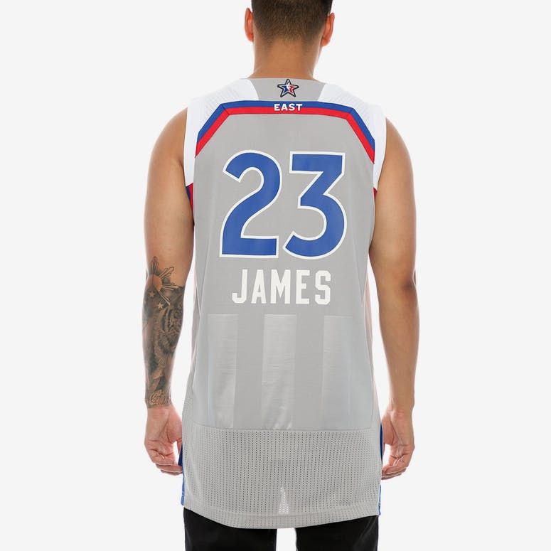 Adidas Performance NBA All-Star Eastern Conference LeBron James '23' Swingman Jersey Grey/Royal