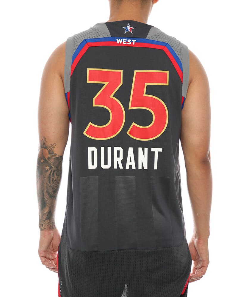 Adidas Performance NBA All-Star Western Conference Kevin Durant '35' Swingman Jersey Black/Red