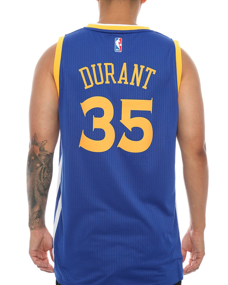 Adidas Performance GS Warriors Kevin Durant Swingman Jersey Royal/Yellow