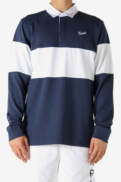 Carhartt Strike L/S Rugby Polo Blue/White