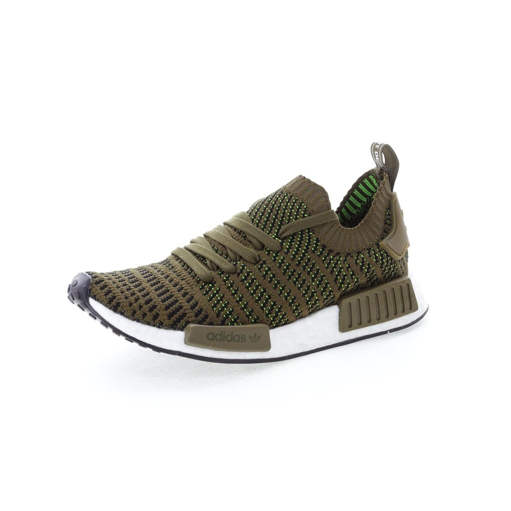 Adidas Originals Nmd R1 Stlt Primeknit Green Black White Cq2389