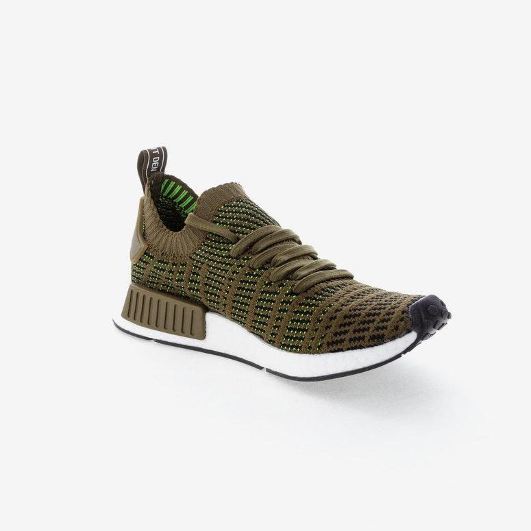 Adidas Originals Nmd R1 Stlt Primeknit Green Black White Cq2389