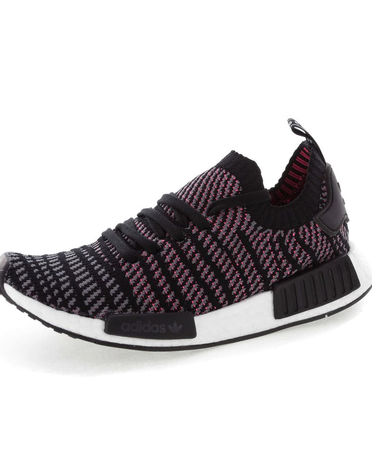 9ed625436e810 Adidas Originals NMD R1 STLT Primeknit Black Multi-Coloured