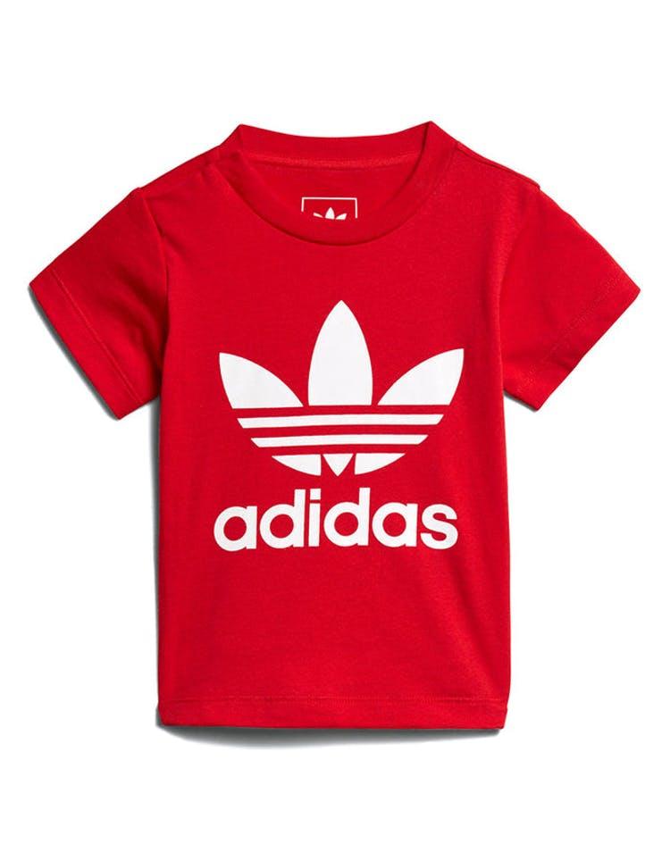 26e79f15879 Adidas Originals Kids Trefoil Tee Scarlet/White – Culture Kings NZ