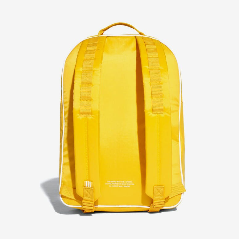 bdc3c73cd3 Adidas Classic Backpack Yellow White