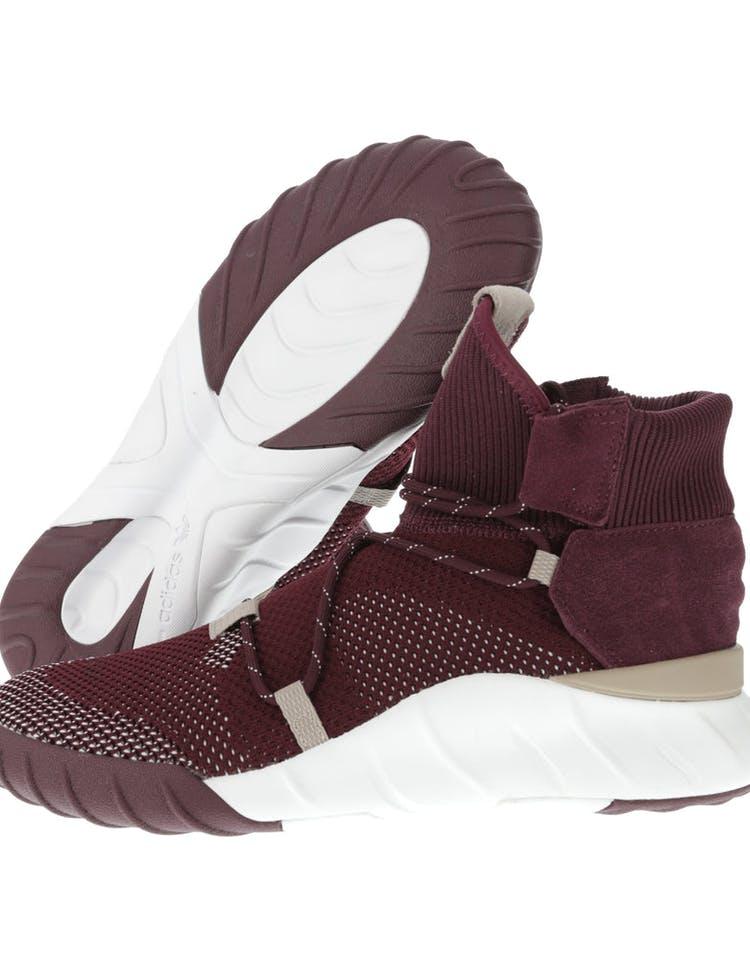 online store c96fd 6890b Adidas Originals Tubular X 2.0 Primeknit Maroon/White