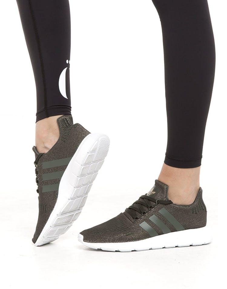 983d4c630d21b Adidas Originals Women s Swift Run Dark Green White