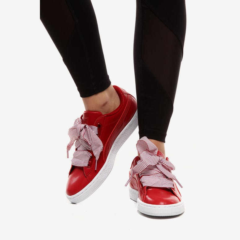 c272b4fc22f8 Puma Women s Basket Heart Red Pink White