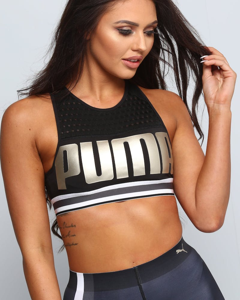 Puma Women's Puma Bra Black/Gold