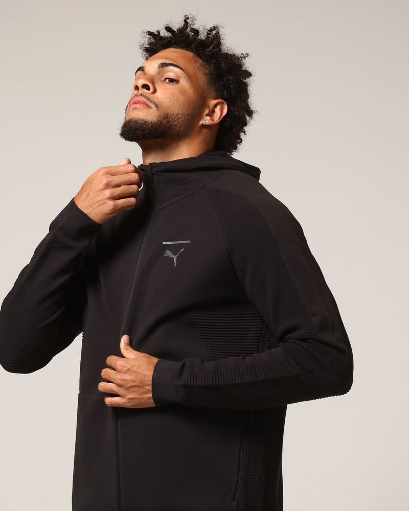 Puma Pace Evoknit Move Full Zip Hoody Black