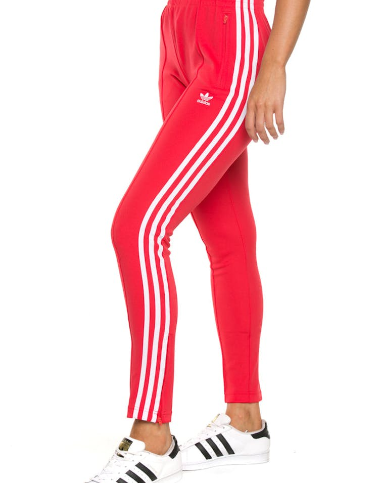 Adidas Womens Sst Track Pant Red  Culture Kings Nz-5191