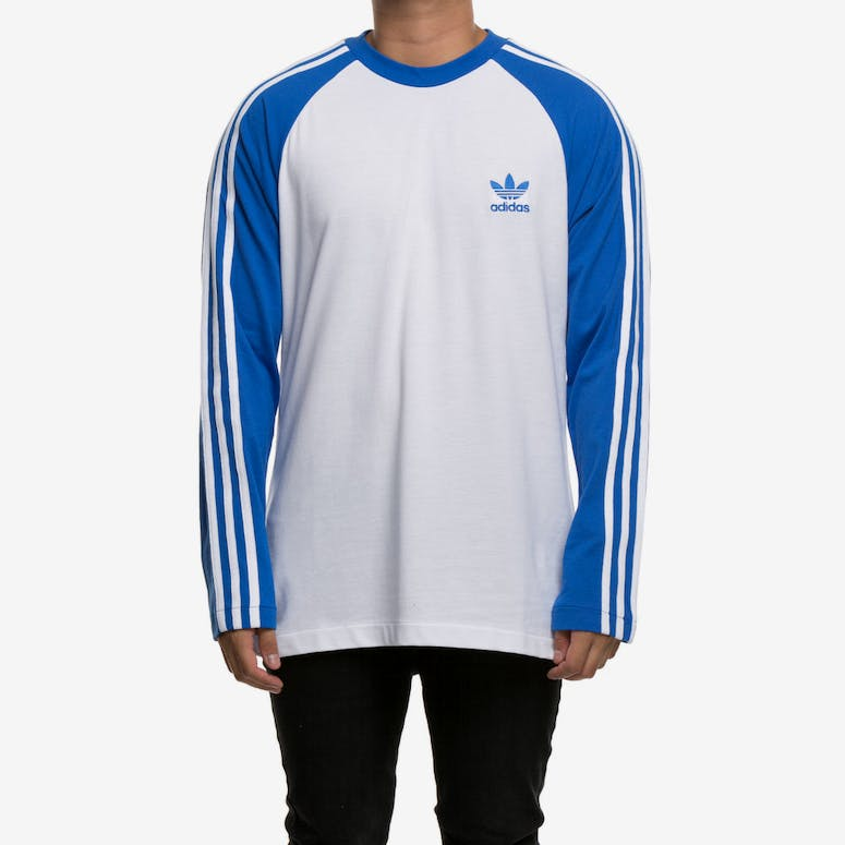 Adidas 3-Stripes Longsleeve Tee Blue