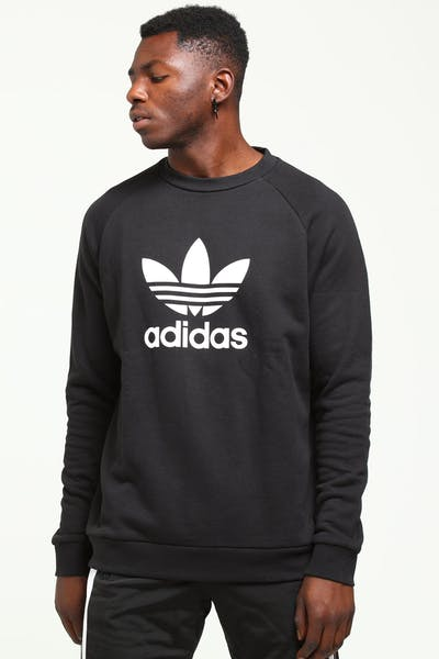 Adidas Originals Trefoil Crew Black/White