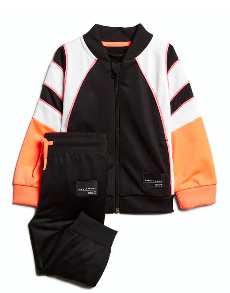 separation shoes 829df f450b Adidas Infant EQT Tracksuit Set Black/White