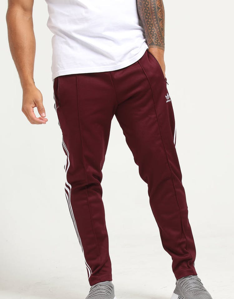 b853be0f89e13f Adidas Beckenbauer Track Pant Maroon – Culture Kings NZ
