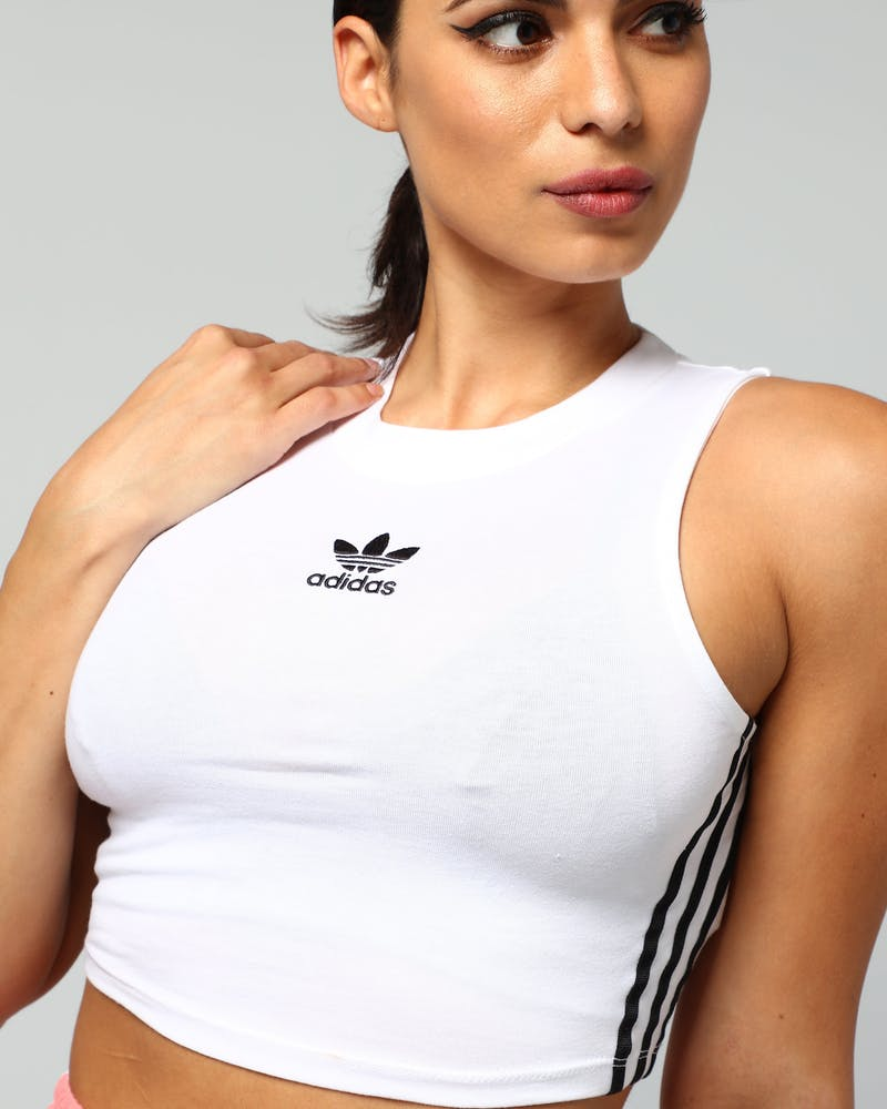 Adidas Women's Crop Tank White/Black