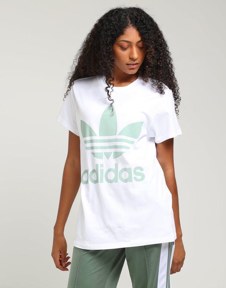 12f229e365c Adidas Women's Big Trefoil Tee White/Mint – Culture Kings NZ
