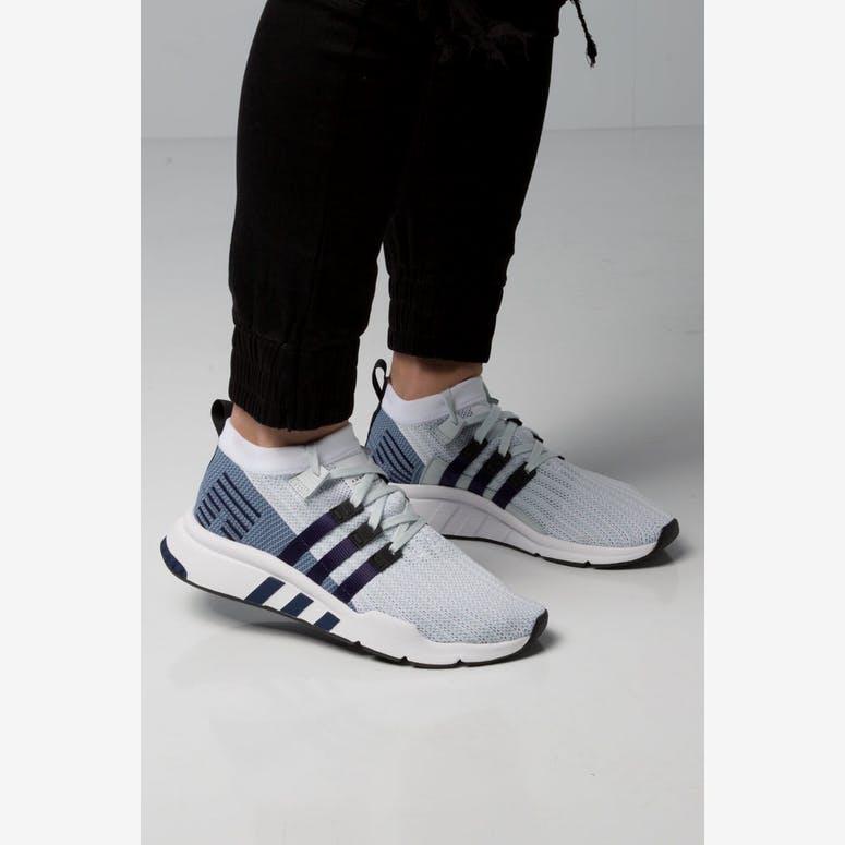 259e2594766 Adidas EQT Support Mid ADV Primeknit White Blue Black – Culture Kings NZ