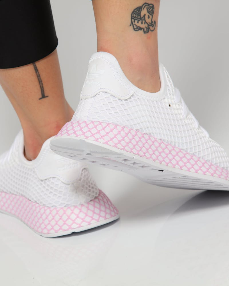 Adidas Women's Deerupt Runner White/Pink