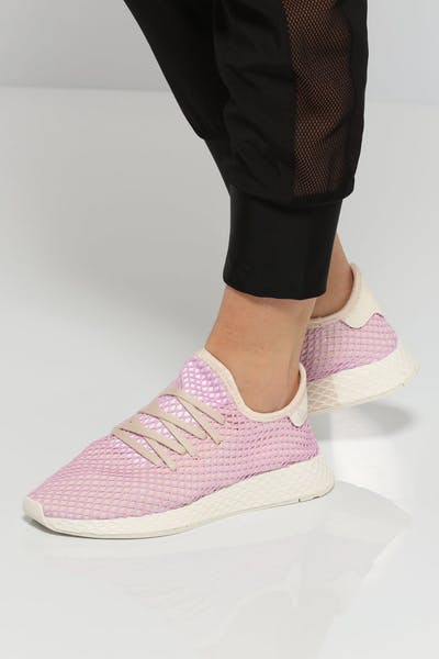 Adidas Women's Deerupt Runner Pink/White