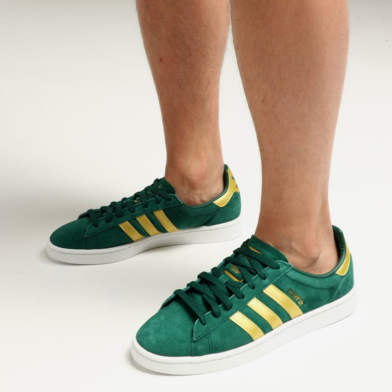 Adidas Campus Green Gold White 9fa22a36f