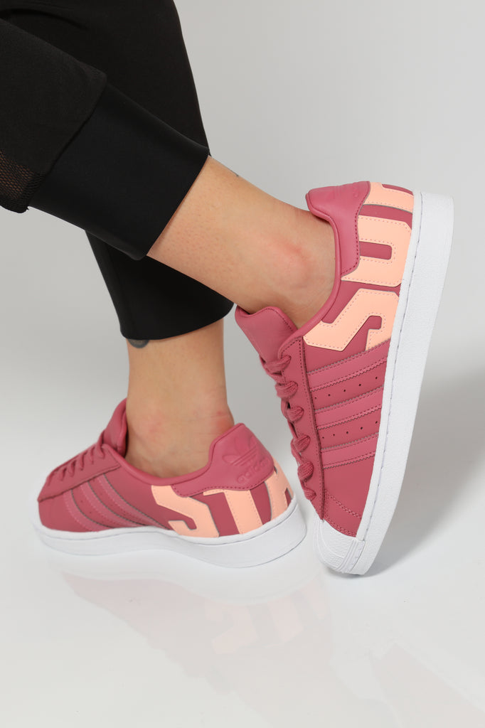 best loved f5f4d 12086 ... discount code for adidas originals womens superstar mauve taupe white  8b510 9af21