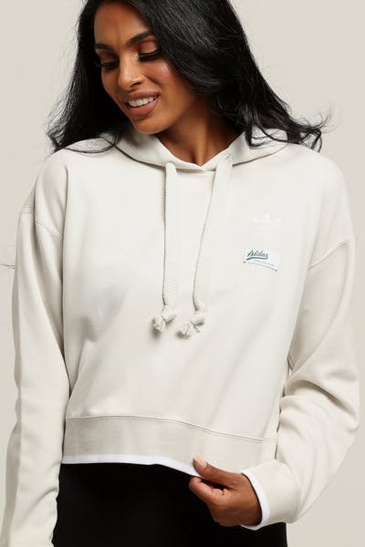 Adidas Women's Cropped Hoodie  Off White