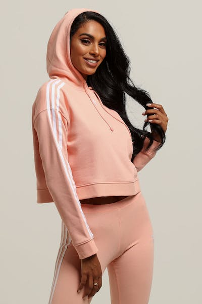 Adidas Women's Cropped Hoodie Light Pink