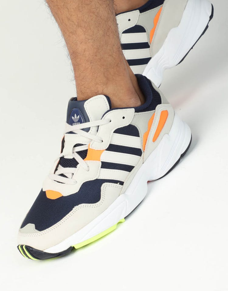 differently 55e90 49290 Adidas Yung 96 Navy White Orange