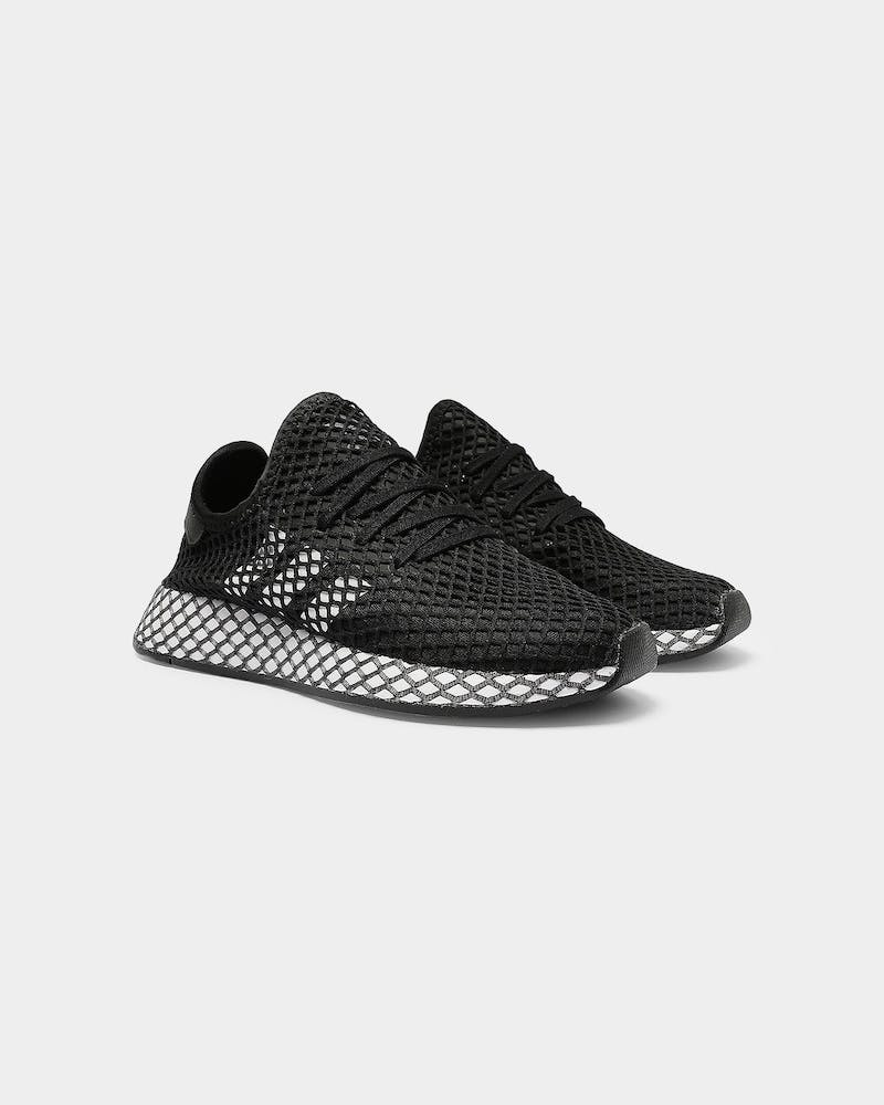 Adidas Kids Deerupt Runner J Black/White/Grey