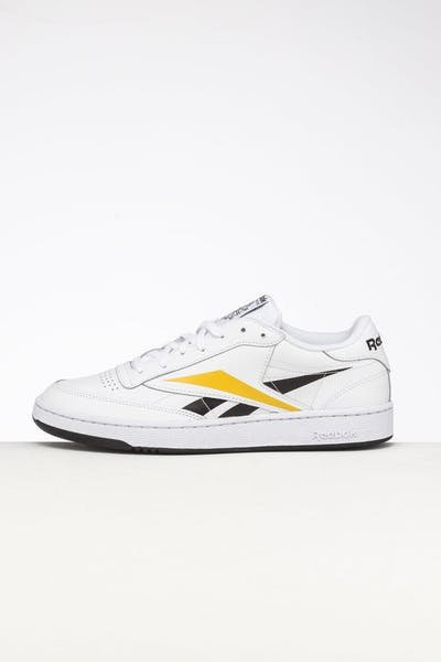 Reebok Club C Vector White/Black/Yellow