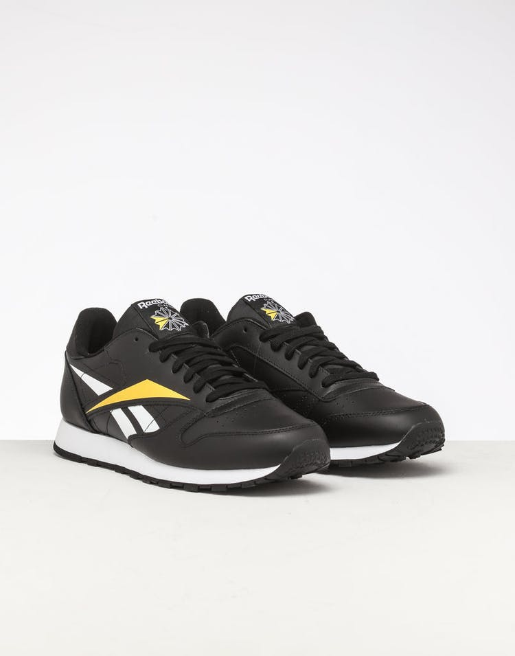Reebok CL Leather Vector Black/White/Yellow