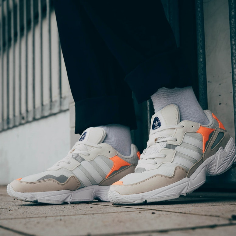 najlepsze ceny Cena hurtowa bardzo popularny Adidas Yung 96 Beige/White/Orange