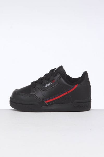 the latest ec29e 2ff2f Adidas Toddler Continental 80 Black Red Navy ...