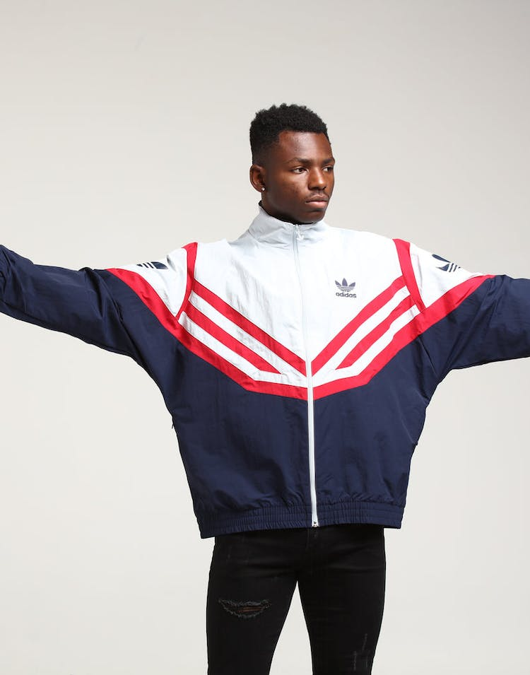 fresh styles size 7 new concept Adidas Sportivo Track Top White/Navy/Red