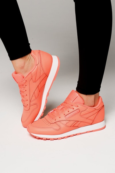 Reebok Women's Classic Leather Coral/White