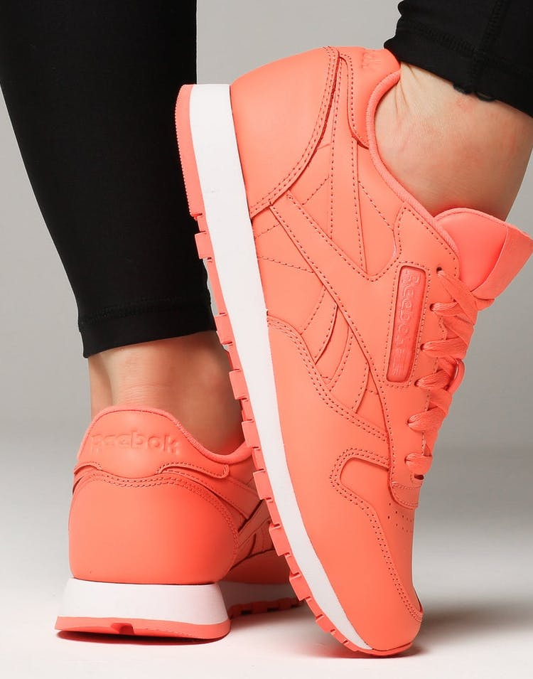 64dde9345f4 Reebok Women s Classic Leather Coral White – Culture Kings NZ