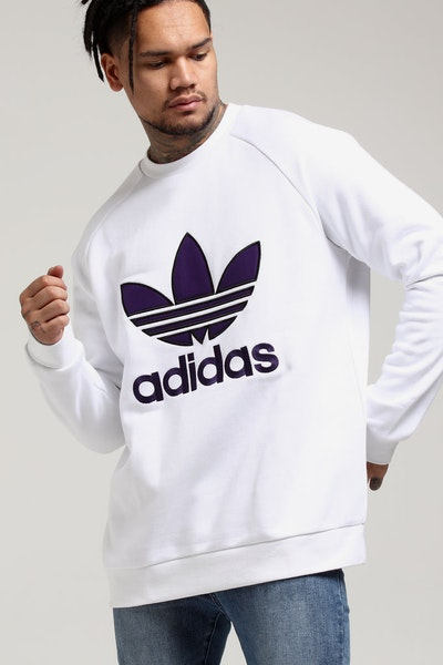 Adidas Trefoil Crew White/Purple