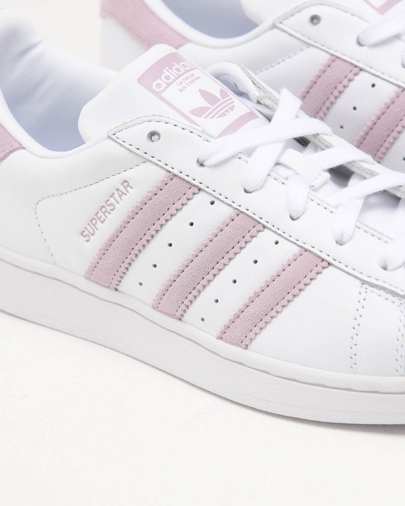 ADIDAS WOMEN'S SUPERSTAR WHITE/SOFT VISION