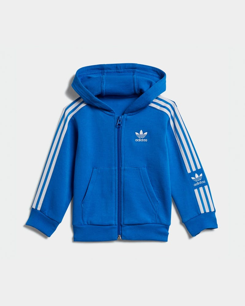 Adidas Kids New Icon Hoodie Set Blue/White