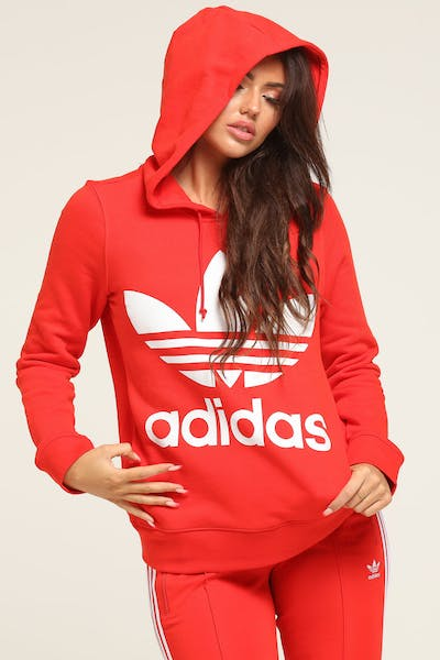 4a671dcb8 Adidas Women's Love Hooded Sweat Red