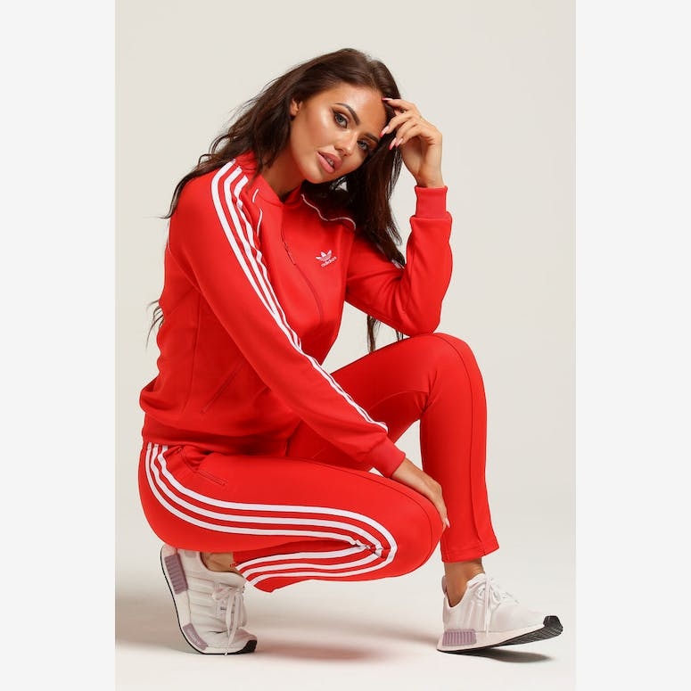 3d20b325780 Adidas Women s Love Tracksuit Jacket Red – Culture Kings NZ