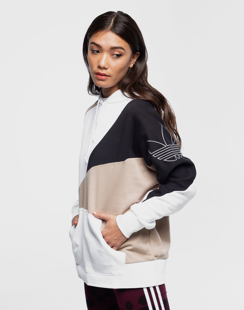 adidas Originals Women's Cropped Hoodie Soft Vision X Small