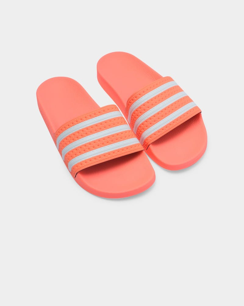 Adidas Women's Adilette Orange/White/Orange
