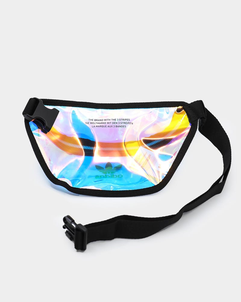 Adidas Unisex Iridescent Waist Bag Transparent